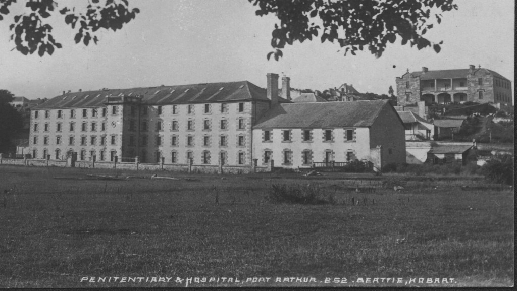 historic photo or the Penitentiary at Port Arthur, c1890.