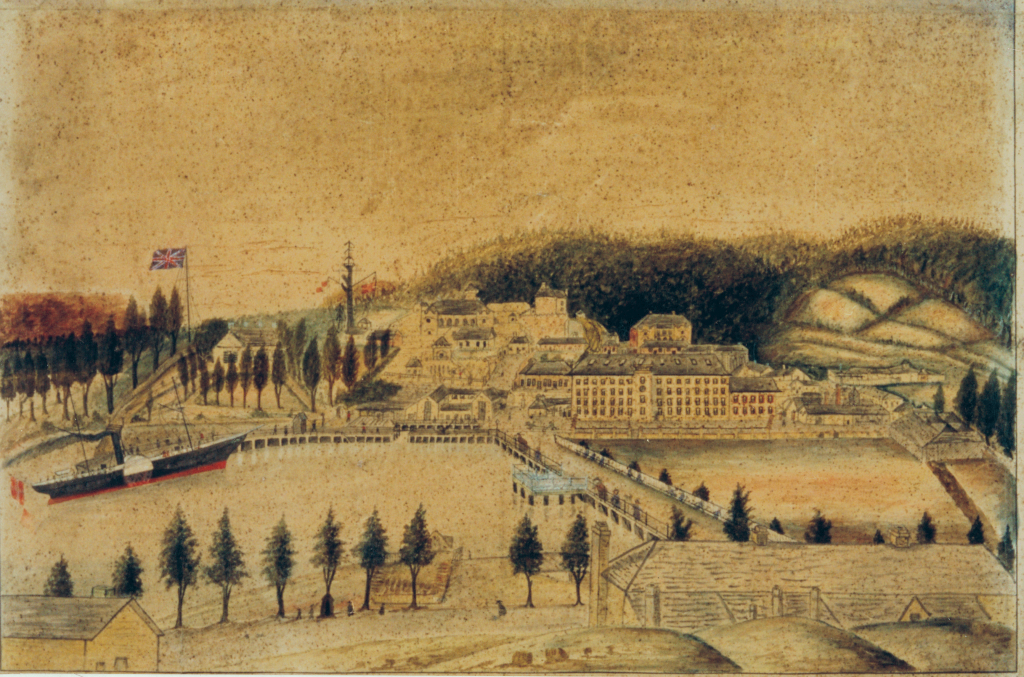 Contemporary sketch of Port Arthur by a prisoner at the latter period of its occupation (c.1860) Source: Tasmanian Archive and Heritage Office