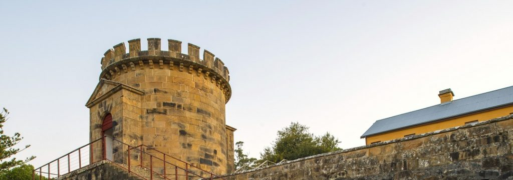 the historic guard tower at port arthur