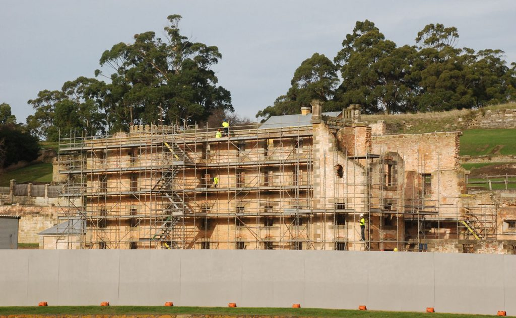 photograph of the conservation of the penitentiary project at Port Arthur Historic Site