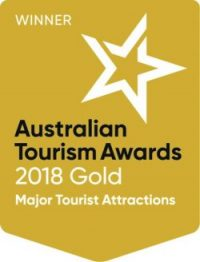 logo of Port Arthur Historic Site gold award at the 2018 Qantas Australian Tourism Awards
